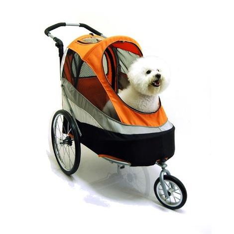 Orange/Black Sporty Dog Buggy & Trailer