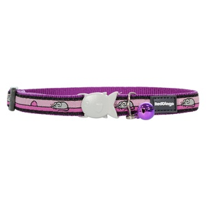 Pink & Purle Mouse Cat Collar