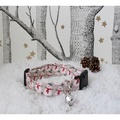 Snowman Dog Collar with Christmas Jingle