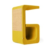 Catworks - Scratching Post - Letter G - Yellow