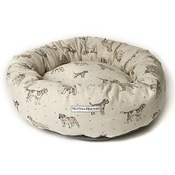 Mutts & Hounds - Dogs Linen Donut Bed - Natural