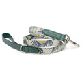 Peacock Linen and Leather Dog Lead 3