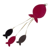 Creature Clothes - Flat Fish Cat Toy - Pink