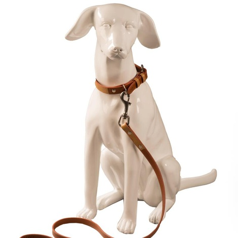 Chelsea Leather Dog Lead – Caramel & Tan 3