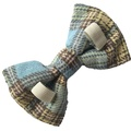 Blue Tartan Dog Bow Tie 3