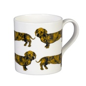 The Graduate Collection - Dachshund Mug - Yellow