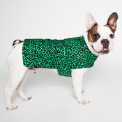 PetsPyjamas - Personalised Green Leopard Print Dog Coat