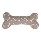 Mutts & Hounds - Mushroom Bones Linen Bone Toy