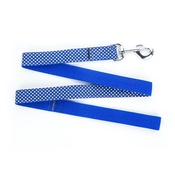 "Pet Pooch Boutique - Polka Dot Dog Lead - Navy Blue  1"" Width"
