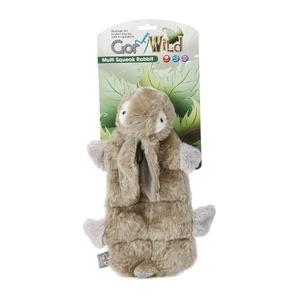 Gor Wild Multi-Squeak Dog Toy - Rabbit