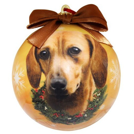 Red Dachshund Christmas Bauble