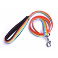 Fleece Comfort Dog Lead – Rainbow
