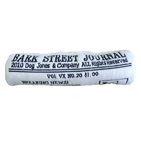 Bark Street Journal Squeaky Dog Toy