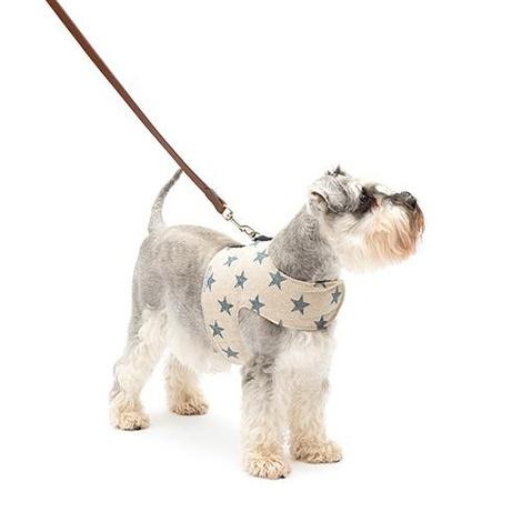 Navy Star Linen Soft Dog Harness 3