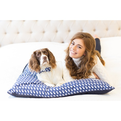 Teddy Maximus Navy Luxury Lounging Dog Bed Cushion 3