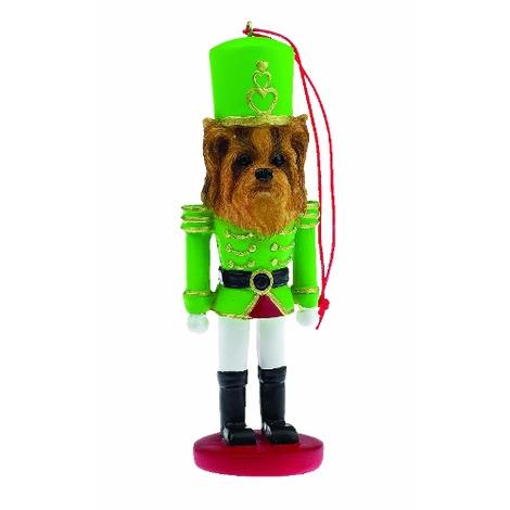 Yorkshire Terrier Nutcracker Soldier Ornament