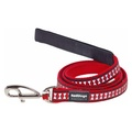 Bones Reflective Dog Lead - Red