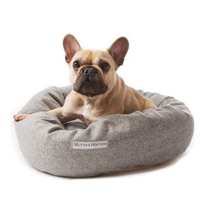 Stoneham Grey Tweed Donut Bed