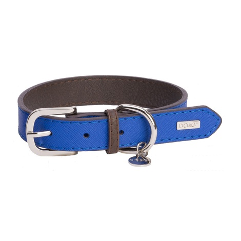 DO&G Leather Dog Collar - Navy