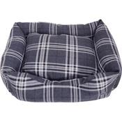 Hem & Boo - Tartan Check Rectangle Dog Bed - Charcoal