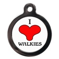 I Love Walkies Pet ID Tag