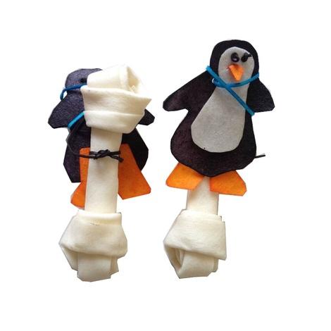 Rawhide Christmas Penguin Bone