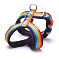 2.5cm Width Fleece Comfort Dog Harness – Rainbow