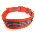 Red Tartan Dog Collar 2