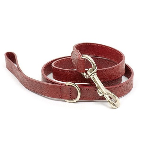 Grape Leather Dog Lead