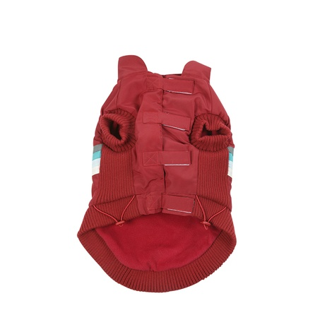Red Bomber Dog Jacket 2