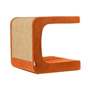 Catworks - Scratching Post - Letter C - Orange