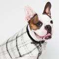 Luxury Black & White Check Mohair Dog Coat 4