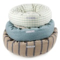 Mint Check Cotton Donut Bed 4