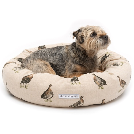 Grouse Linen Donut Bed 2