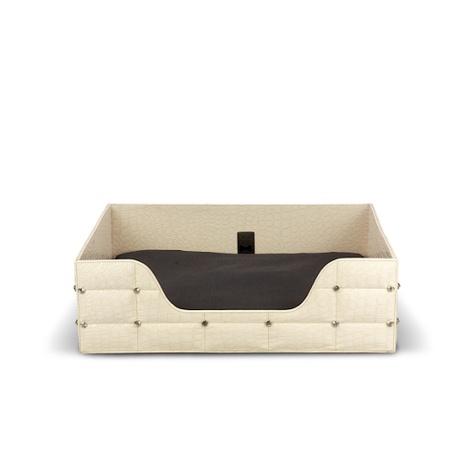 Rectangular Beige Crocodile Lounge Bed