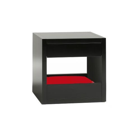 Bloq Pet Bed & Side Table - Black 12