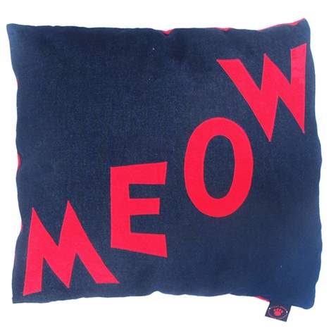 Cat Nappa Meow – Red/Denim