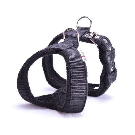 2.5cm Width Fleece Comfort Dog Harness – Black
