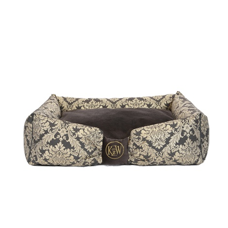 Chien Parisien Dog Bed – Slate Grey & Gold 2
