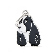 My Family - Springer Spaniel Engraved ID Tag – Black & White