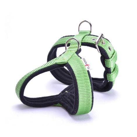 2.5cm Width Fleece Comfort Dog Harness – Lime