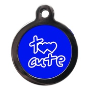 PS Pet Tags - Blue Too Cute Dog ID Tag