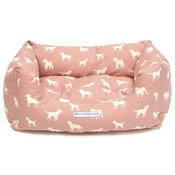 Mutts & Hounds - Old Rose Boxy Bed