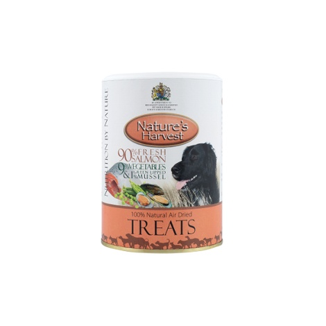 12 x Air Dried Dog Treats - Salmon, Veg & Mussel