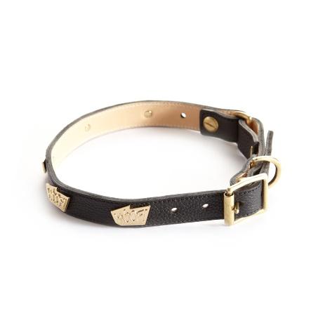 Woof Leather Dog Collar - Black 2