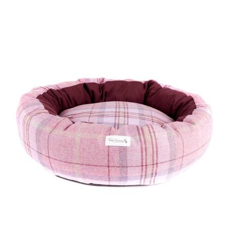 Pink Shetland Wool Luxury Cocoon Dog Bed