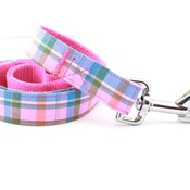 Pet Pooch Boutique - Raspberry Barkberry Plaid Lead