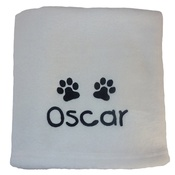 My Posh Paws - Personalised Fleece Blanket - Ivory