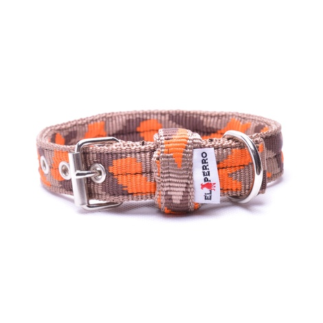 Double Dog Collar – Orange Camo