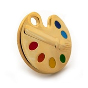 Hamish McBeth - Gold Paint Palette Dog Tag